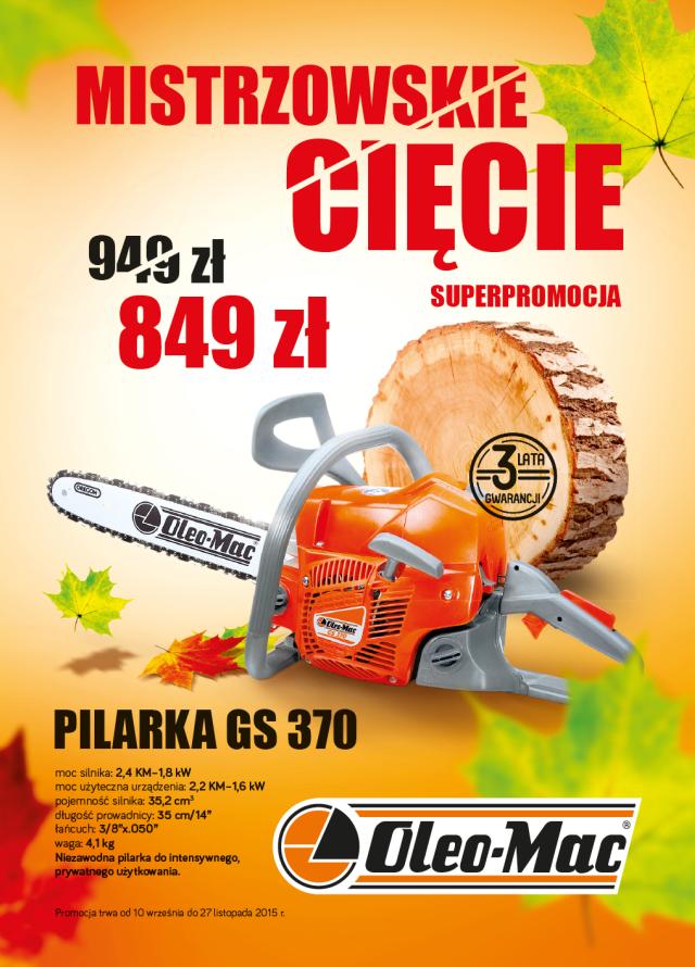 Superpromocja GS 370 849zł